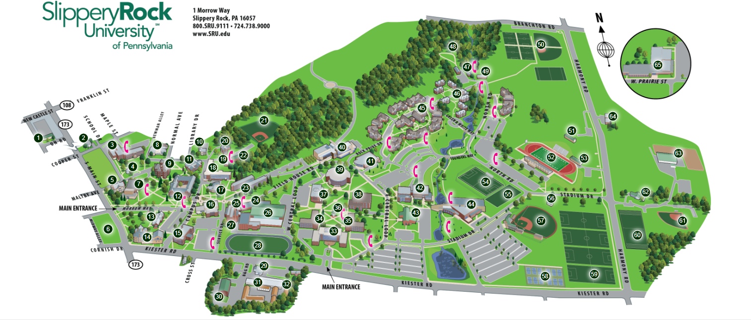 SRU Accessible Campus Map